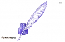 Quill Writing Pen Silhouette