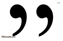 Quotation Mark Silhouette
