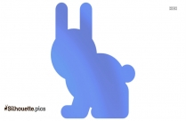 Easter Bunny Silhouette Art, Vector