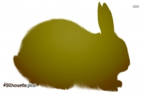Fat Bunny Silhouette Clipart Picture