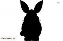 Cartoon Bunny Silhouette Drawing