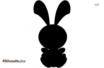 Cartoon Bunny Silhouette Icon