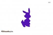 Cartoon Bunny Silhouette Clipart