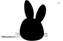 Cute Pose Bunny Silhouette