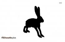 Cartoon Rabbit Silhouette Illustration
