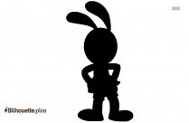 Cartoon Rabbit Drawing Silhouette