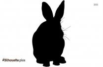 Black Rabbit Silhouette Image