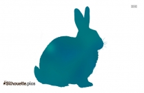 Black And White Rabbit Silhouette