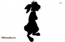 Rabbit Silhouette Background
