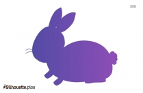 Easter Bunny Silhouette Art Picture