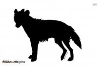 Raccoon Dog Silhouette Art