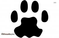 Cartoon Raccoon Tracks Silhouette