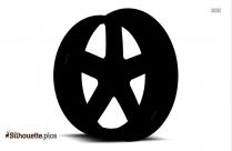 Transport Vehicle Wheel Silhouette
