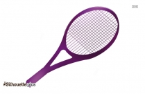 Tennis Racket With Tennis Ball Silhouette