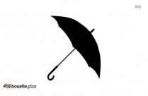 Rain Umbrella Silhouette Background