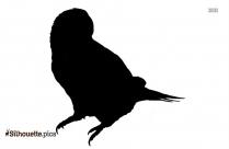 Sarus Crane Silhouette Clip Art Image