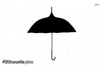 Rainbow Pagoda Umbrella Silhouette