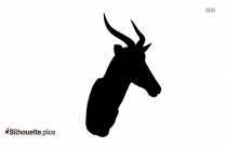 Tusked Deer Silhouette Free Vector Art