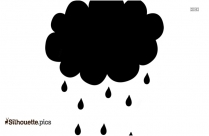 Rainy Clouds Silhouette Picture, Rain Drop Drawing