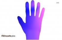 Raised Hand Silhouette