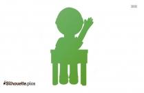 Cartoon Raise Your Hand Silhouette