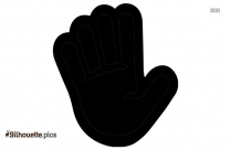 Hand Gesture Silhouette Art