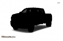 Black School Van Silhouette Image