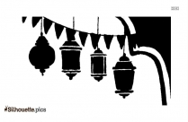 Ramadan Kareem Lantern Silhouette
