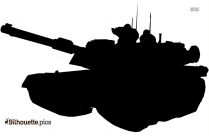 Army Tank Silhouette Free Vector Art