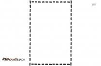 Square Border Silhouette, Frames Clip Art Image
