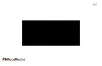 Cartoon Inverted Triangle Silhouette