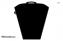 Recycle Trash Can Silhouette