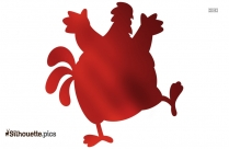 Red Chicken Dora The Explorer Silhouette