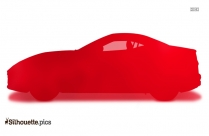 Black Ferrari Car Silhouette