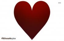 Black Heart Flat Silhouette