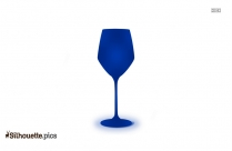 Red Wine Glass Silhouette Image