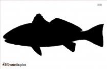 Redfish Silhouette Illustration