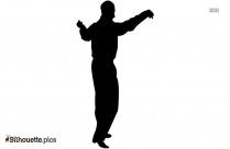 Reggae Dance Pose Silhouette Image