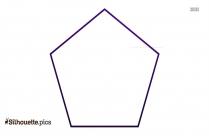 Geometric Pentagon Figure Silhouette