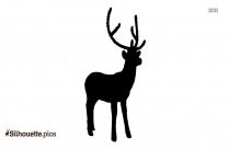 Black Christmas Deer Silhouette Image