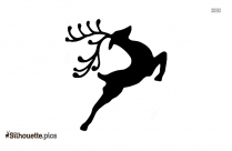 Reindeer Cartoon Silhouette Image And Vector