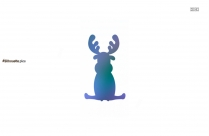 Rudolph Silhouette Clipart