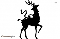 Transparent Deer Silhouette Clipart