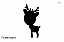 Cute Christmas Reindeer Silhouette Picture
