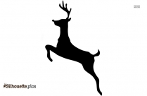 Cartoon Reindeer Silhouette Pic