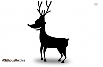 Christmas Rudolph Reindeer Silhouette Illustration