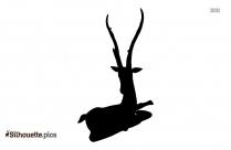 Winter Reindeer Silhouette