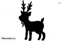 Santa And Reindeer Silhouette Background