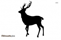 Caribou Reindeer Silhouette, Deer Clipart