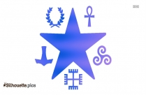 Shapes Religion Symbol Religious Pagan Silhouette